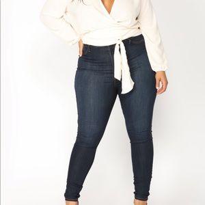 Fashion Nova Plus Size High Waisted Skinny Jeans